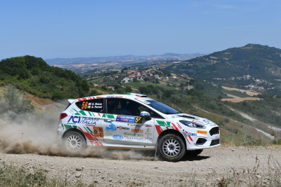 Emanuele Rosso, Andrea Ferrari, Ford Fiesta Rally4 R2B #56, Meteco Corse